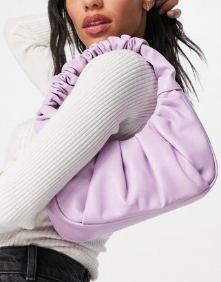 Ego shoulder bag with ruching in lilac