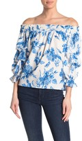Flying Tomato A.Calin Floral Off-The-Shoulder Blouse