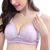 BC-Bionergy Nursing Bra Cotton Breathable with Lace edge Wirefree Maternity Bra /