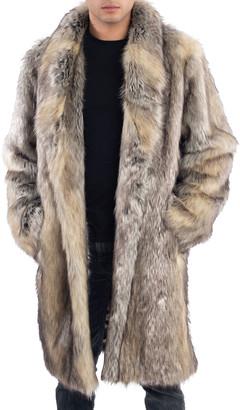 Fabulous Furs Men's Faux-Fur Shawl-Collar Coat