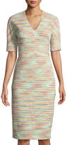 Maggy London Sunset Striped Sheath Dress