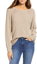 Caslon Boat Neck Boucle Sweater