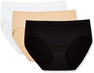 Layla's Celebrity Women's Seamless Hi-Cut Panties Nylon Spandex Underwear