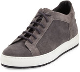 a. testoni a.testoni Men's Suede Low-Top Sneaker