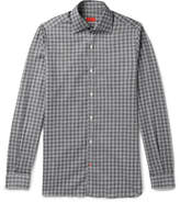 Isaia Checked Cotton Shirt