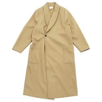 Hyke Beige Wool Coat for Women