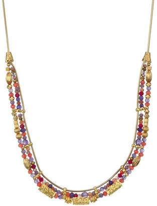 Gas Bijoux Cielo 24K Gold-Plated Multi-Stone Necklace