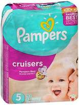 Pampers Cruisers Diapers 3-Way Fit Jumbo Size 5, 27+lb - 4 packs of 21, Pack of 5