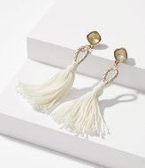 LOFT Braided Tassel Statement Earrings