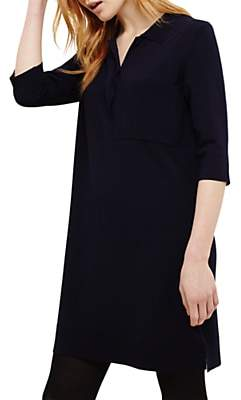 Phase Eight Paige Patch Pocket Shirt Tunic, Midnight