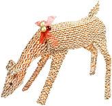 Asstd National Brand 48.5 Pre-Lit Brown & White Striped Chenille Reindeer Yard Art
