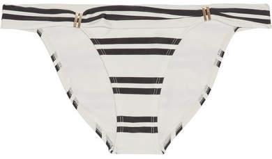 Vix Classic Bia Tube Striped Bikini Briefs - Cream
