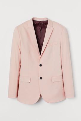 H&M Skinny Lyocell-blend Blazer - Orange