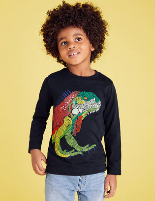 Marks and Spencer Pure Cotton Embroidered Iguana Top (2-7 Yrs)
