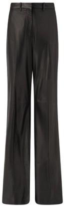 Joseph Nappa Leather Tambo Flared Trousers