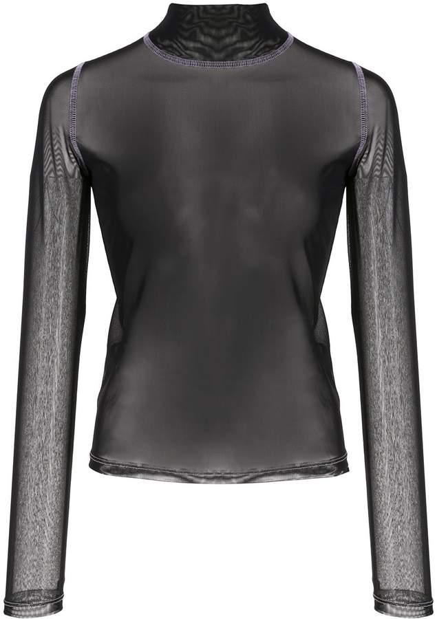 Sandy Liang skin-tight transparent top