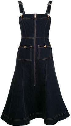 Alice McCall Azure denim pinafore dress