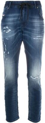 Diesel Faded Straight-Leg Jeans