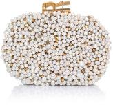 Sarah's Bag Gold Champagne Bubble Box Clutch