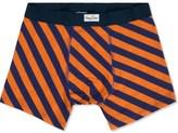 Happy Socks Orange/Navy Polka Stripe Boxer Briefs