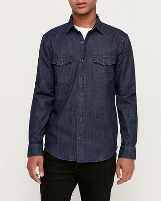 Express Slim Western Denim Shirt