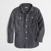 J.Crew Factory Kids' classic chambray shirt