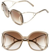 Chloé Women's 'Jackson' 56Mm Square Sunglasses - Blonde Havana