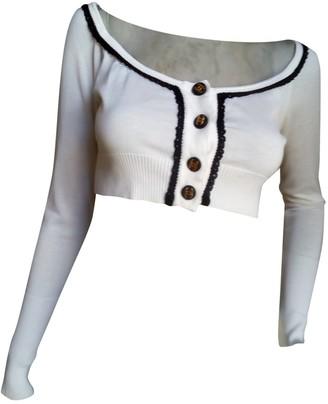 Chanel White Cotton Tops