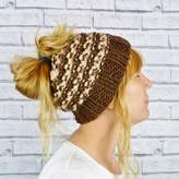 Moaning Minnie Hand Knitted Messy Bun Hat