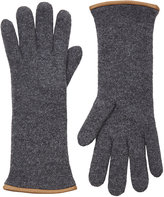 Barneys New York Women's Double-Knit Gloves-GREY
