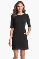 Tahari Seamed A-Line Dress (Petite)