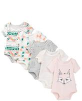 Rosie Pope Nordic Fox Bodysuits - Pack of 5 (Baby Girls)