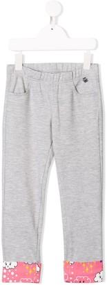 Simonetta Printed Hem Track Trousers