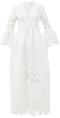Erdem Irmina Embroidered Mikado-satin Gown - Ivory