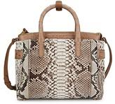 Thumbnail for your product : Nancy Gonzalez Small Cristie Python & Crocodile Satchel