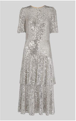 Whistles Arabelle Sequin Midi Dress