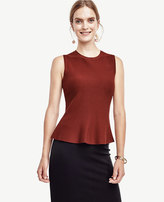 Ann Taylor Petite Sleeveless Flared Shell