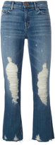 J Brand distressed jeans - women - Cotton/Polyurethane - 29