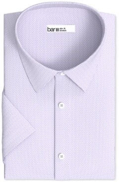 Bar III Men's Slim-Fit Performance Stretch Textured Geo Dress Shirt, Created for Macy's