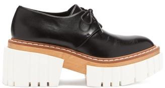 Stella McCartney Emilie Faux-leather Lace-up Platform Shoes - Black