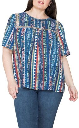 Flying Tomato Printed Round Neck Top