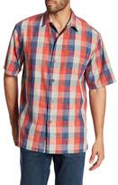 Tommy Bahama Plaza Original Fit Plaid Silk Camp Shirt
