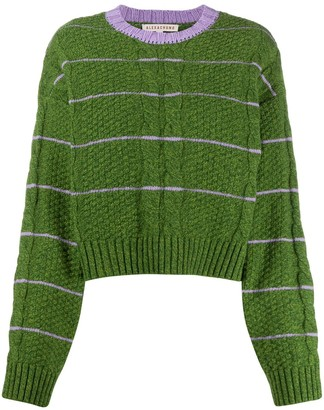 ALEXACHUNG Cable Knit Cropped Jumper