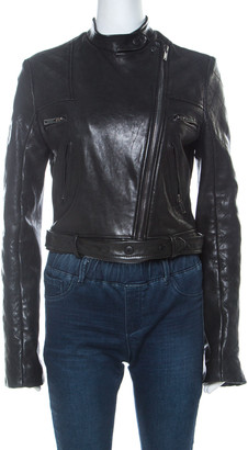 Givenchy Black Lamb Leather Motorcycle Zip Up Jacket M