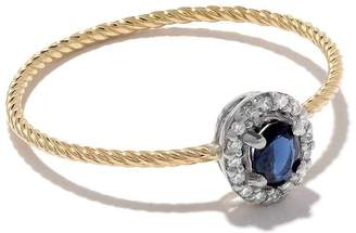 Wouters & Hendrix Gold 18kt gold sapphire and diamonds ring