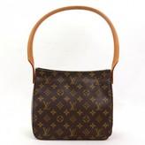 Louis Vuitton excellent (EX Brown Monogram Canvas Looping MM Shoulder Bag