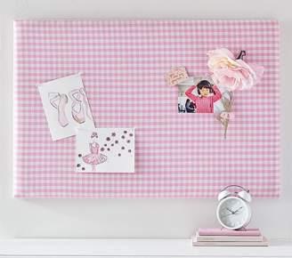 Pottery Barn Kids Gingham Pin Board, Pink