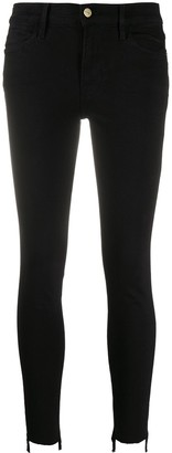 Frame Cropped Skinny Trousers