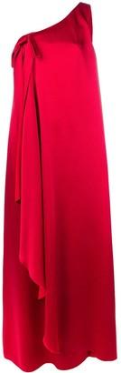 Valentino One Shoulder Full Length Dress