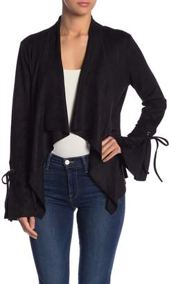 Fate Faux Suede Bell Sleeve Jacket